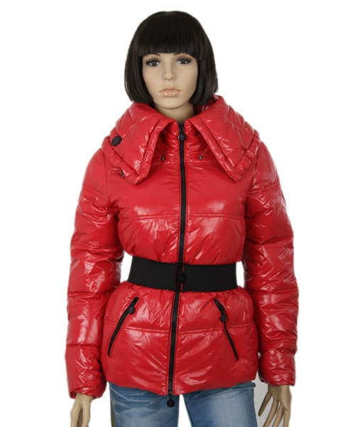 Moncler Aliso Designer Womens Down Jackets With Belt Dark Red