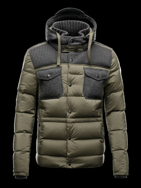 Moncler Men's Down Jacket Leblond Khaki Winter Coat
