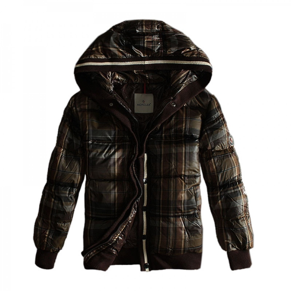 Moncler Men's Jacket Grid Zip Cafe