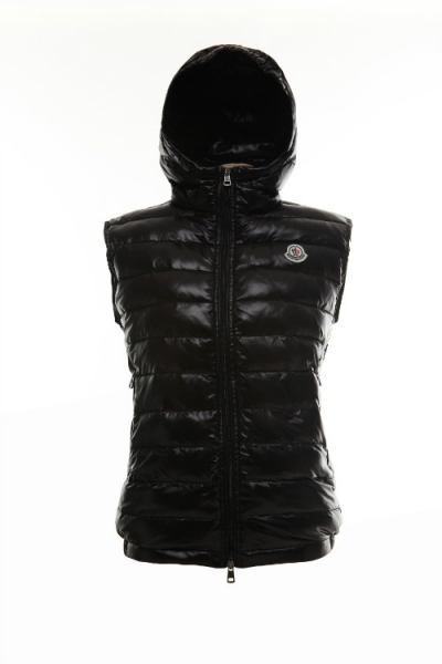 Moncler Mens Vest Cheval Black