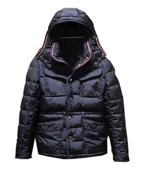 Moncler Millais Down Jackets Mens Collar Multi Pockets Black