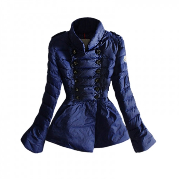 Moncler Modern Black & Red & Blue Coat Women
