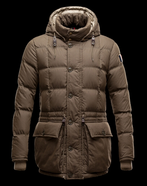 Moncler Montserrat Men Winter Coat Hood Brown