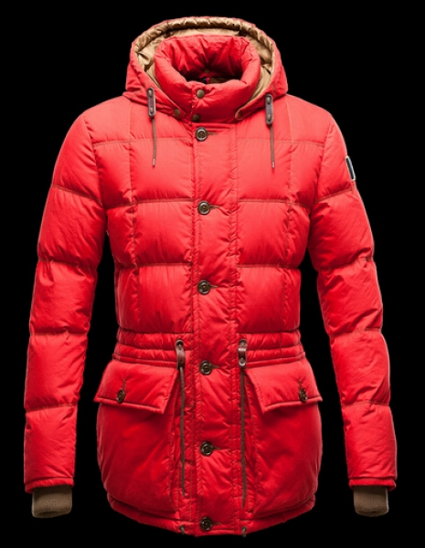 Moncler Montserrat Men Winter Coat Hood Red