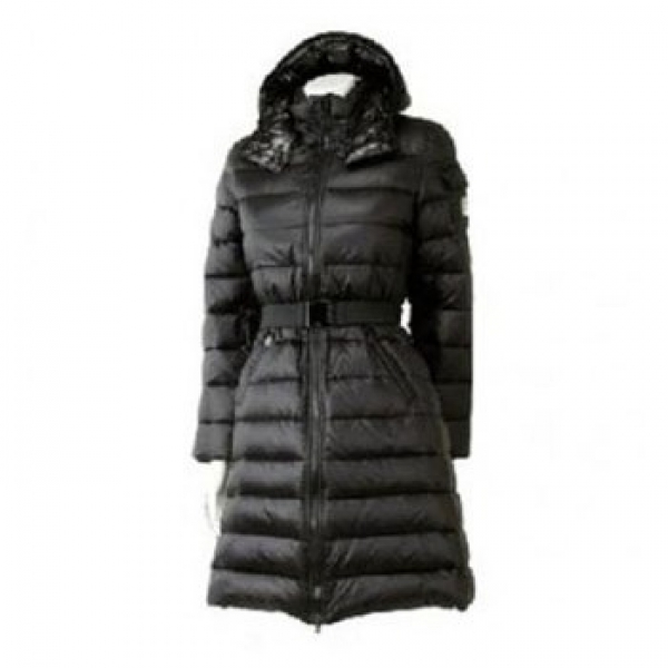 Moncler Nantes Hooded Down Black Coat Women