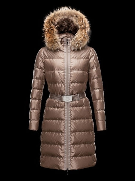 Moncler Nantesfur Jackets Women fur hat Beige