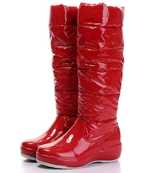Moncler Nible Boots Women Red Stylish And Generous