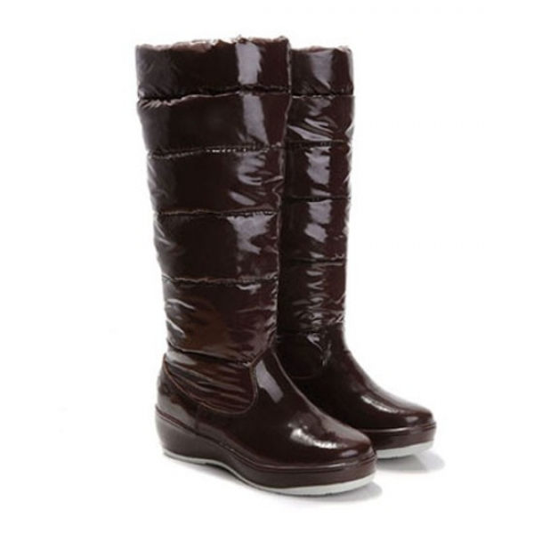 Moncler Nible Quilted Chocolate Boots