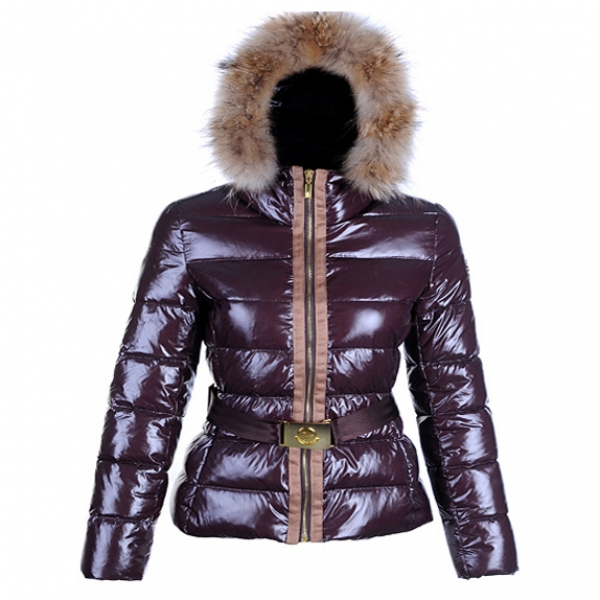 Moncler Angers Women Jacket Belted Date Red For Sale