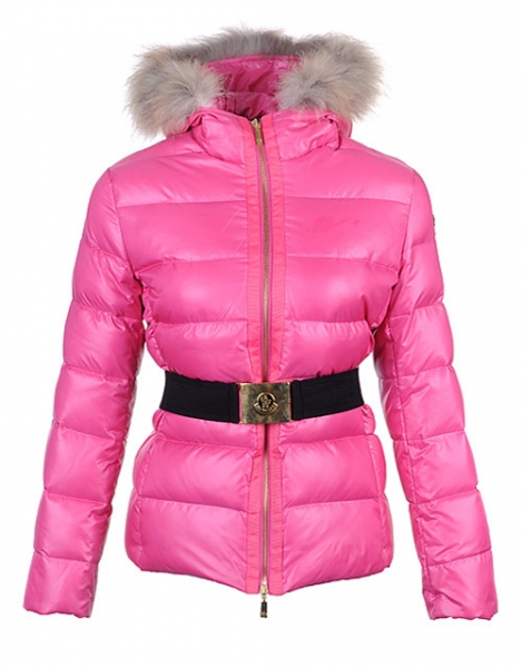 Moncler Angers Women Jacket Belted Pink For Sale