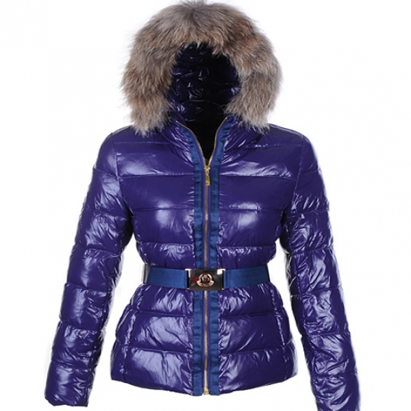 Moncler Angers Women Jacket Belted Purple For Sale