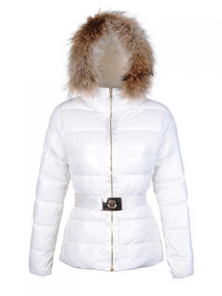 Moncler Angers Womens Short Jacket White