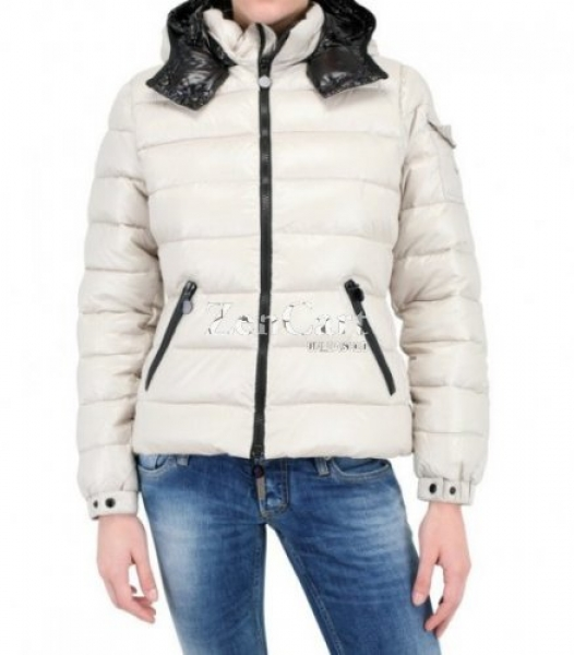 Moncler Bady Quilted Down Coat For Women Hooded Parka White