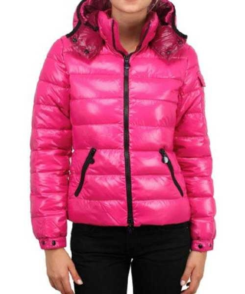 Moncler Bady Winter Women Down Jackets Zip Hooded Pink