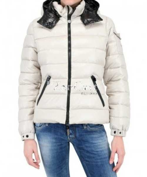 Moncler Bady Winter Women Down Jackets Zip Hooded White