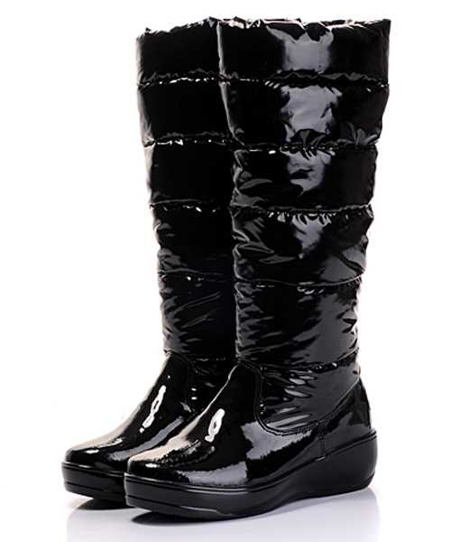 Moncler Boots Nible Black Metallic Fabric