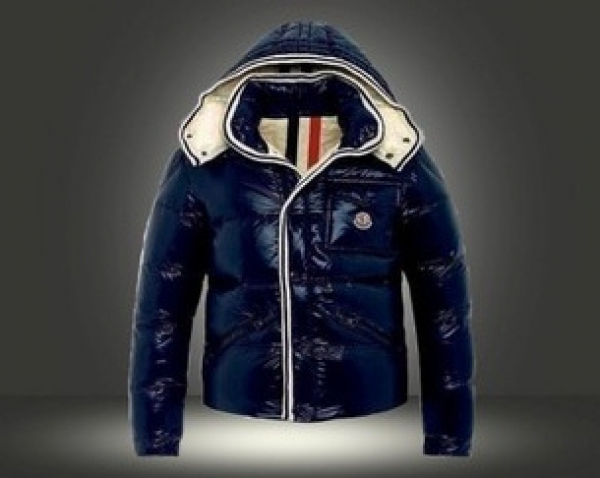 Moncler Branson Classic Mens Down Jackets Blue Short