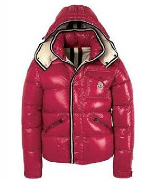 Moncler Branson Classic Mens Down Jackets Red Short