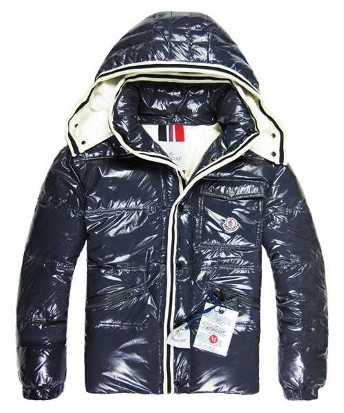 Moncler Branson Classic Mens Down Jackets With Hat Blue