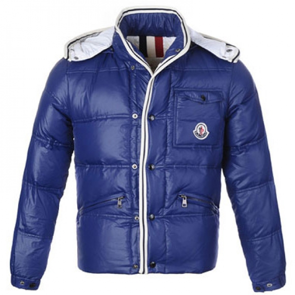 Moncler Branson Men Jacket Cyanine For Sale