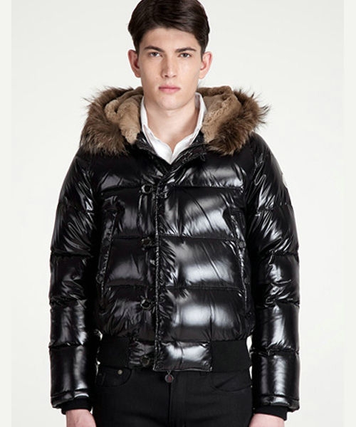 Moncler Bulgarie Men Down Jackets Short Black