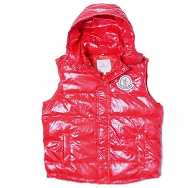 Moncler Casual Mens Vest Red A For Sale