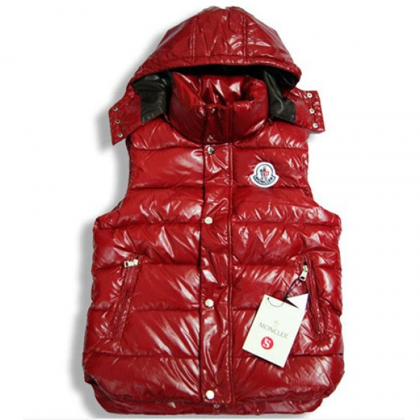 Moncler Casual Mens Vest Red B For Sale
