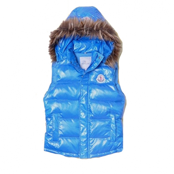 Moncler Casual Women Vest Blue For Sale
