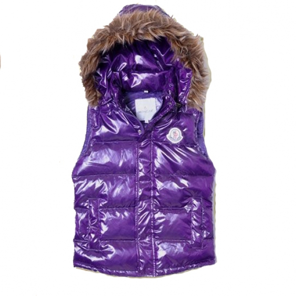 Moncler Casual Women Vest Purple For Sale
