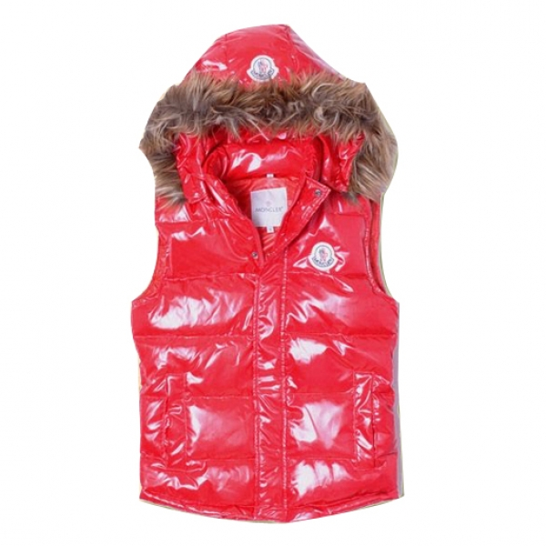 Moncler Casual Women Vest Red For Sale