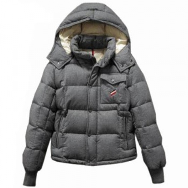 Moncler Cezanne Quilted Flannel Grey Jacket Men