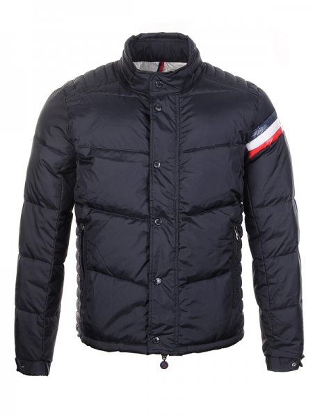 Moncler Chamonix Down Jacket Men Buttons Black Short