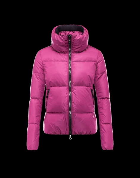 Moncler CHERY Jacket For Women Zip Collar Fuchsia