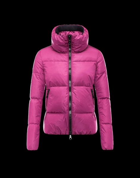 Moncler CHERY Jackets For Women Zip Collar Fuchsia