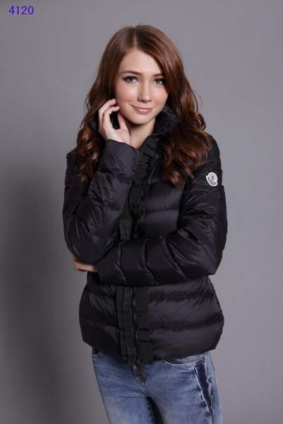 Moncler Clairy Leisure Down Jackets Women Round Neck Black