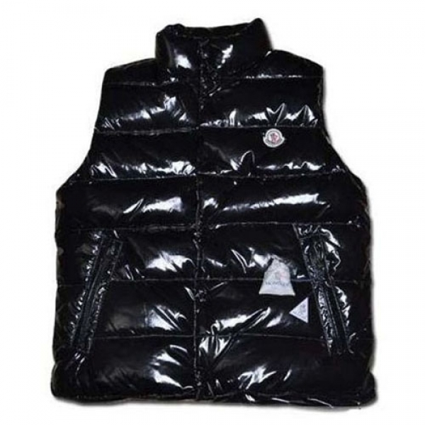 Moncler Clairy Mens Shiny Vest Black For Sale