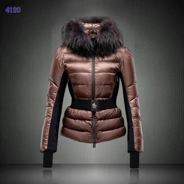 Moncler Clairy Women Down Jackets Coffee