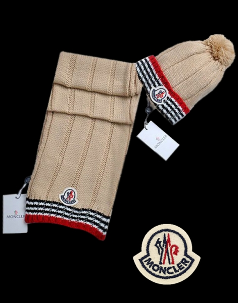 Moncler Classic Brown Scarf & Cap