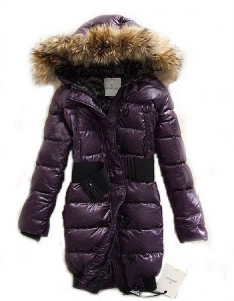 Moncler Coat For Women Fur Hood