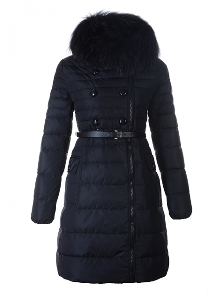 Moncler Coat Long Down Jacket Herisson Fur Collar no