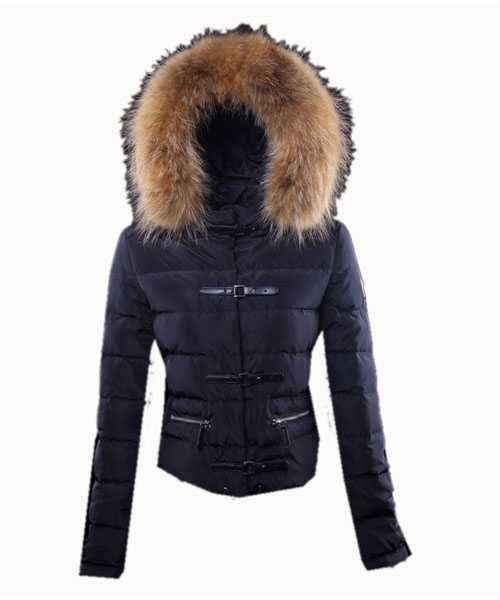 Moncler Crecerelle Down Jackets Women Dark Blue