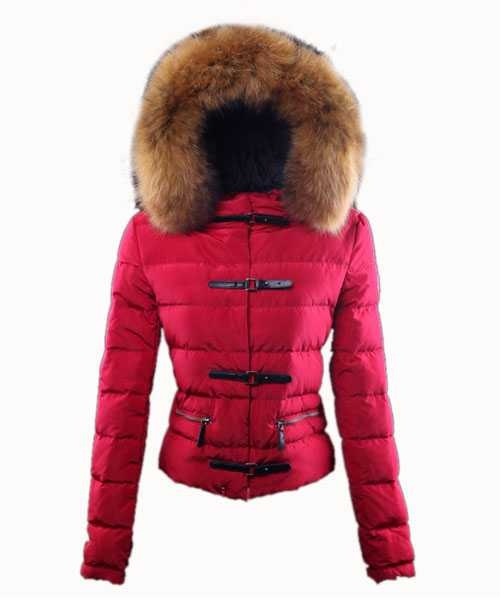Moncler Crecerelle Down Jackets Women Red