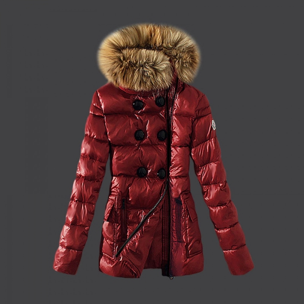 2016 Moncler Down Coats For Women With Fur Cap mc1041
