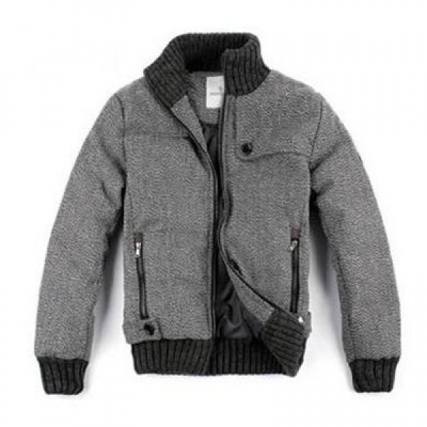 Moncler Down Grey Jacket Men