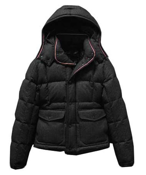 Moncler Down Jacket Men Dublin Collar Pocket Short Black
