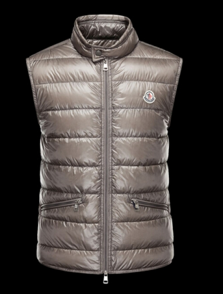 Moncler Down Jacket Men's Gray Sleeveless Jacket