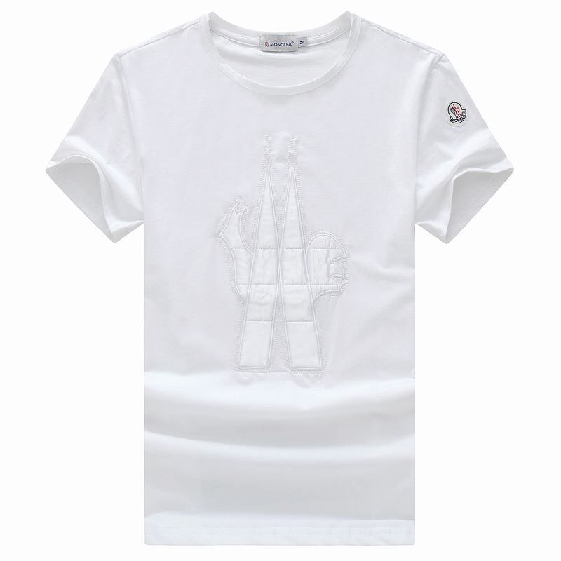 2018 Moncler New Italy Silk Cotton Limited Polo 3D LOGO White