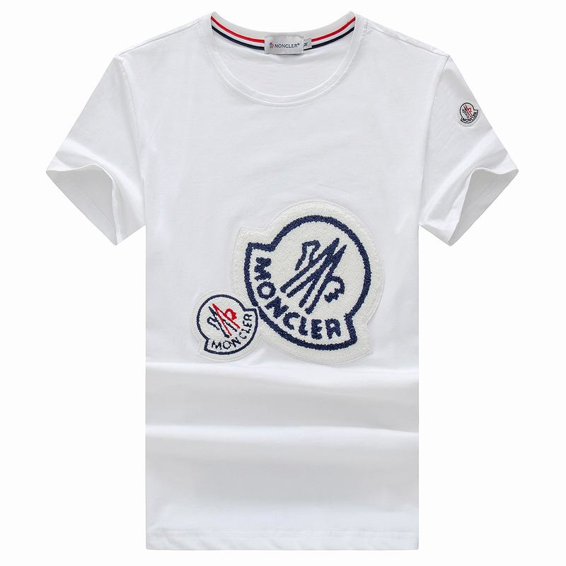 2018 Moncler New Italy Silk Cotton Limited Polo Big LOGO With Small LOGO White