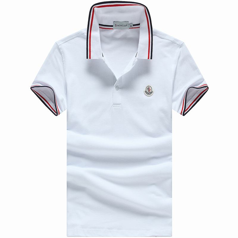2018 Moncler New Italy Silk Cotton Limited Polo Classic LOGO White
