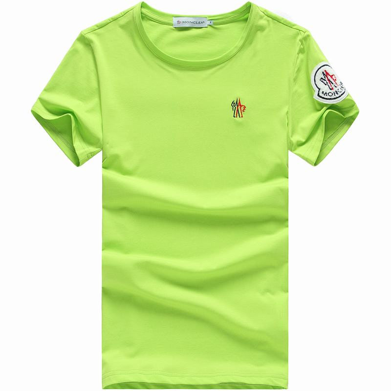 2018 Moncler New Italy Silk Cotton Limited T Shirt Cock LOGO Gree